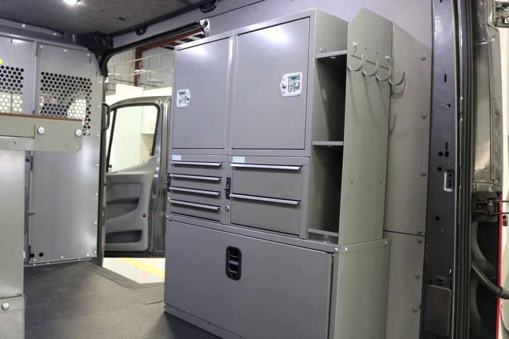 Custom Shelving in Commercial Van