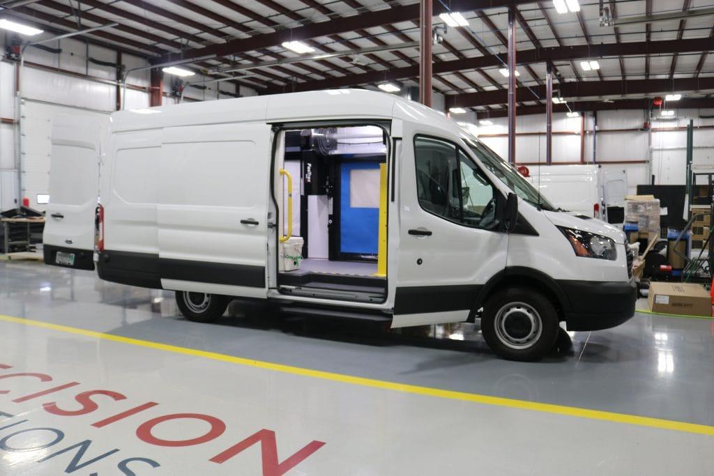 Commercial Van Custom Fabrication Inside Custom Rite-Hite Van